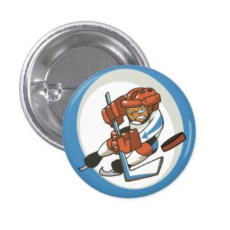 Botón del instinto del hockey de los deportes de i pin redondo de 1 pulgada