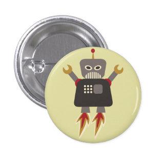 Botón del instinto del robot de Rocket retro Pins