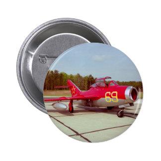 Botón del instructor Mig-17 Pin Redondo De 2 Pulgadas