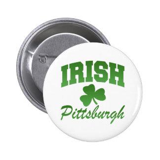 Botón del irlandés de Pittsburgh Pin Redondo De 2 Pulgadas