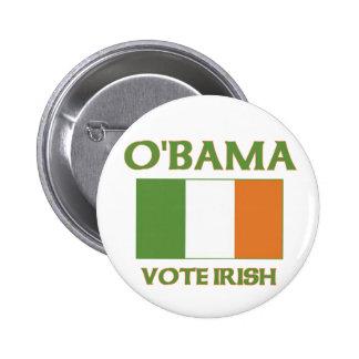 Botón del irlandés del voto de Obama Pin