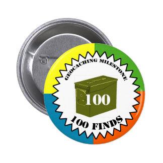 Botón del jalón de 100 hallazgos pins