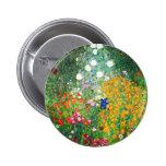 Botón del jardín de flores de Gustavo Klimt Pins