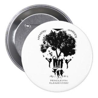 Botón del jardín de la memoria de la escuela prima pin