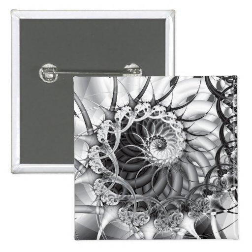 """Botón del """"jardín espiral"""" pin cuadrado"""