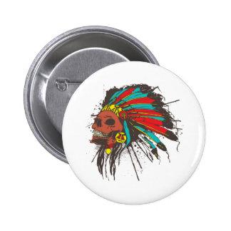 Botón del jefe de la guerra pin
