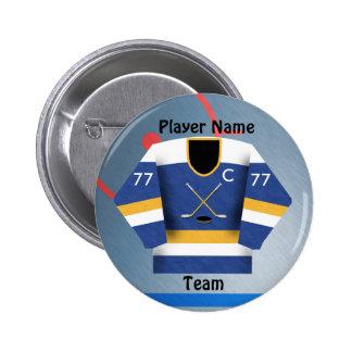 Botón del jersey de equipo de hockey del hielo pins