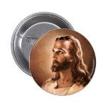 Botón del Jesucristo Pin Redondo De 2 Pulgadas