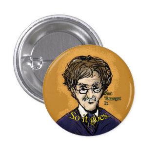 Botón del Jr. de Kurt Vonnegut Pin Redondo De 1 Pulgada