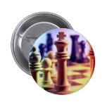 Botón del juego de ajedrez pins