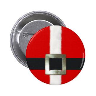 Botón del juego de Santa de las Felices Navidad Pin Redondo De 2 Pulgadas