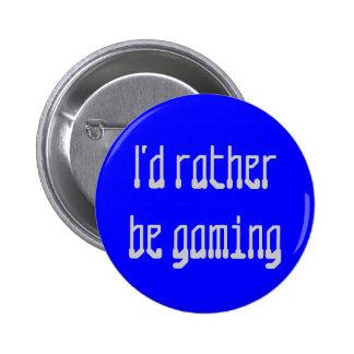 "Botón del ""juego"" pin redondo de 2 pulgadas"
