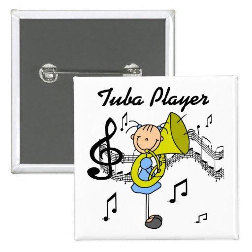 Botón del jugador de la tuba pins
