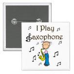 Botón del jugador de saxofón pin
