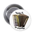 Botón del jugador del acordeón pins