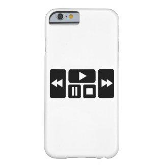 Botón del jugador funda para iPhone 6 barely there