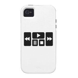 Botón del jugador vibe iPhone 4 carcasa
