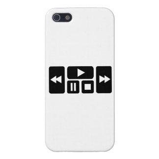 Botón del jugador iPhone 5 fundas