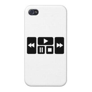 Botón del jugador iPhone 4/4S fundas