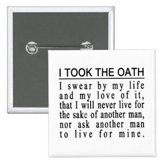 Botón del juramento de Juan Galt Pins