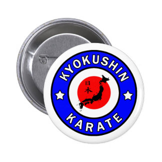 Botón del karate de Kyokushin Pin Redondo De 2 Pulgadas