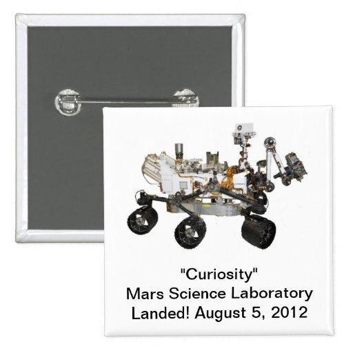 """Botón del laboratorio de ciencia de Marte de la """"c"""