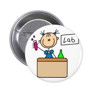 Botón del laboratorio de ciencia pin redondo de 2 pulgadas