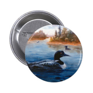 Botón del lago loon pin