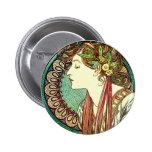 Botón del laurel de Alfonso Mucha