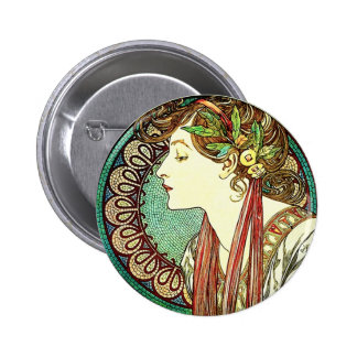 Botón del laurel de Alfonso Mucha Pin