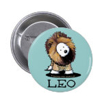 Botón del león de LEO del perro de KiniArt Westie Pin