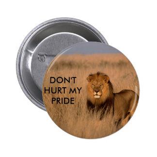 Botón del león pin redondo de 2 pulgadas