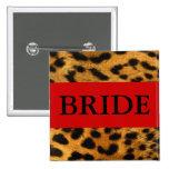 Botón del leopardo de la novia pin