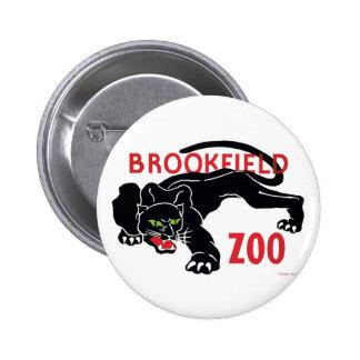 Botón del leopardo del negro del parque zoológico