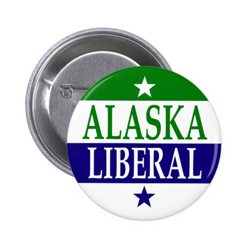 Botón del liberal de Alaska Pins