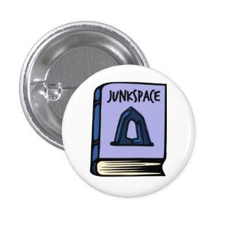 Botón del libro de Rem Koolhaas Junkspace Pin Redondo De 1 Pulgada