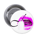 botón del #lipstickgang pin