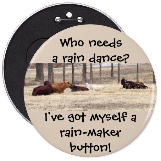 Botón del Lluvia-Fabricante (las vacas se están ac Pins