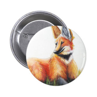 Botón del lobo crinado pins
