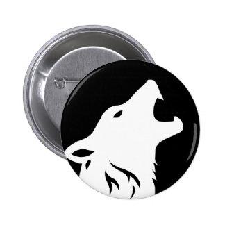 Botón del lobo del grito pins