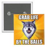 Botón del lobo del valor pin