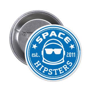 Botón del logotipo de Hipsters® del espacio