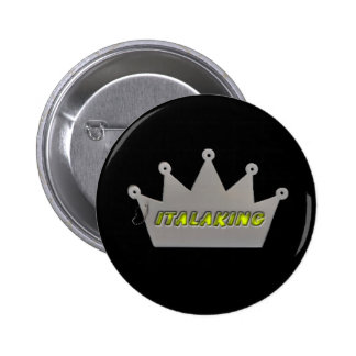 Botón del logotipo de Italaking Pin Redondo De 2 Pulgadas