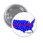 Botón del logotipo de la campaña del padre del pro pin