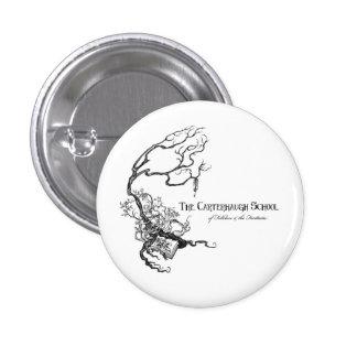 Botón del logotipo de la escuela de Carterhaugh Pin Redondo De 1 Pulgada