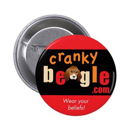 Botón del logotipo de los CB rojo y negro Pin Redondo De 2 Pulgadas