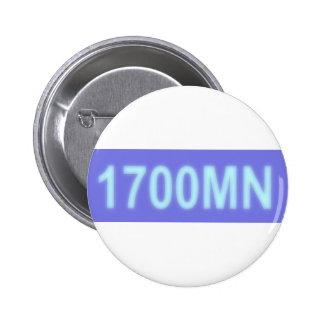 botón del logotipo de los ninjas del mono del func pin redondo de 2 pulgadas