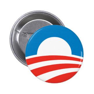 Botón del logotipo de Obama Pin Redondo De 2 Pulgadas