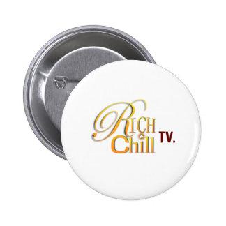 Botón del logotipo de RichChillTV Pin Redondo De 2 Pulgadas