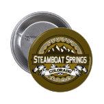 Botón del logotipo de Steamboat Springs Pin